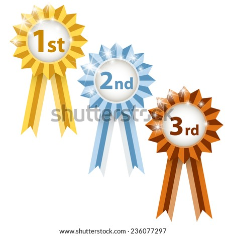 Cockades for winners - stock vector