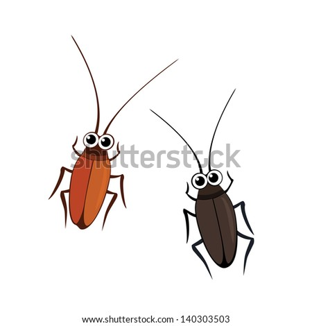 Cockroaches vector - stock vector