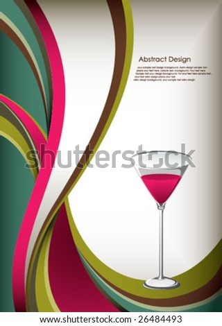 cocktail - stock vector