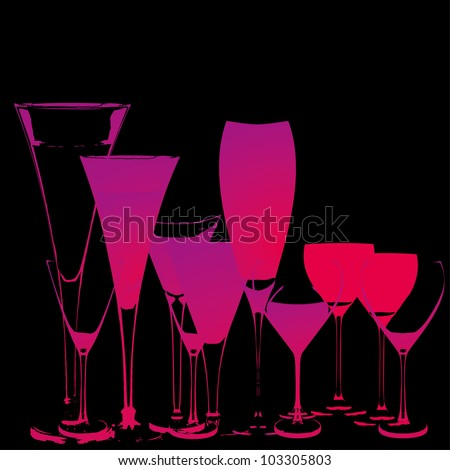 cocktail glass - stock vector