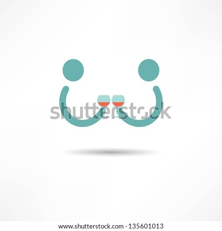 Cocktail icon - stock vector