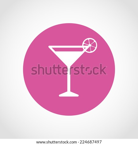 Cocktail Icon Isolated on White Background - stock vector