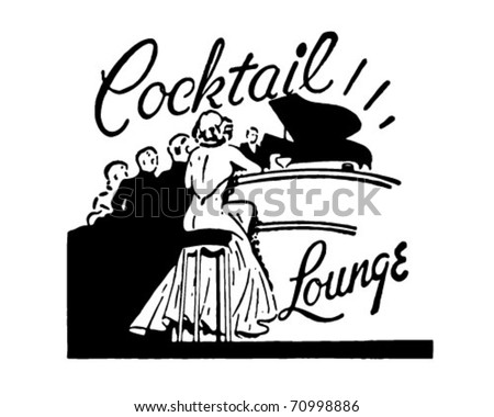 Cocktail Lounge - Retro Ad Art Banner - stock vector