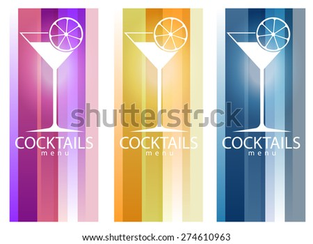 Cocktail party design menu background (vector image) - stock vector