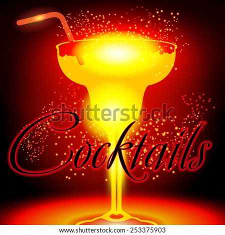 coctail bar glass - stock vector