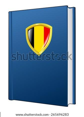 code of laws of Belgium - stock vector