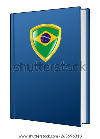 code of laws of Brazil - stock vector