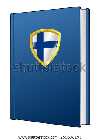 code of laws of Finland - stock vector