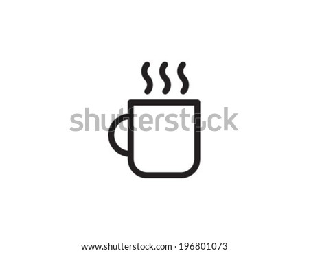 Cofee Cup Outline Icon Symbol - stock vector