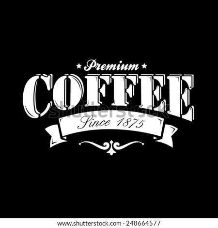 Coffee Background On Chalkboard - stock vector