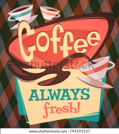 Coffee background \ poster \ card. Vector image - stock vector