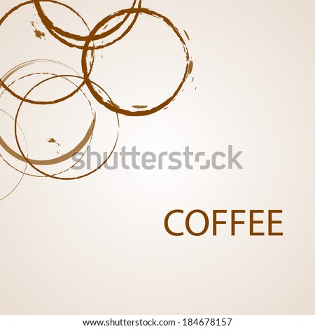Coffee background, vector illustration - stock vector