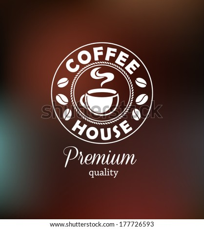 Coffee Background with Typography - stock vector