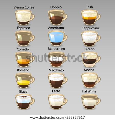 Coffee bar 4 - stock vector