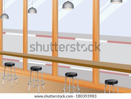 Coffee Bar Seat - stock vector