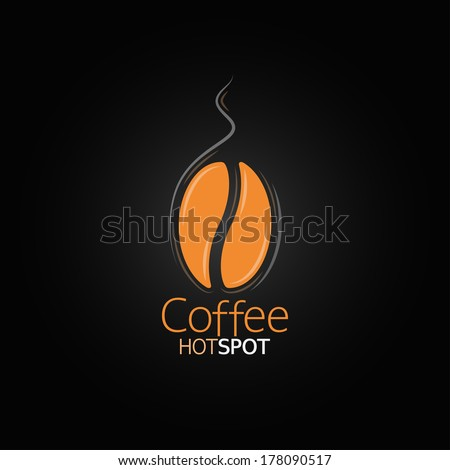 coffee bean design menu background - stock vector