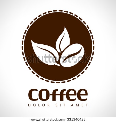Coffee bean vector logo - stock vector
