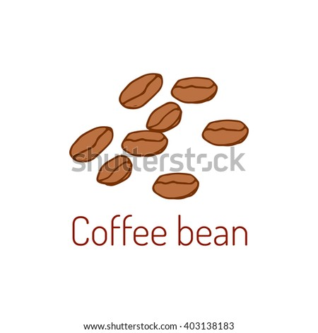 Coffee beans. Hand drawn vector illustration. - stock vector