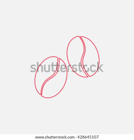 coffee beans Icon - stock vector