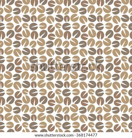 Coffee beans seamless pattern. Vector illustration - stock vector