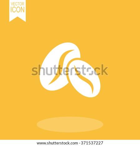 Coffee beans vector icon. - stock vector