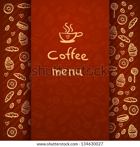 Coffee Break . Coffee time, design elements .Menu for restaurant, cafe, bar - stock vector