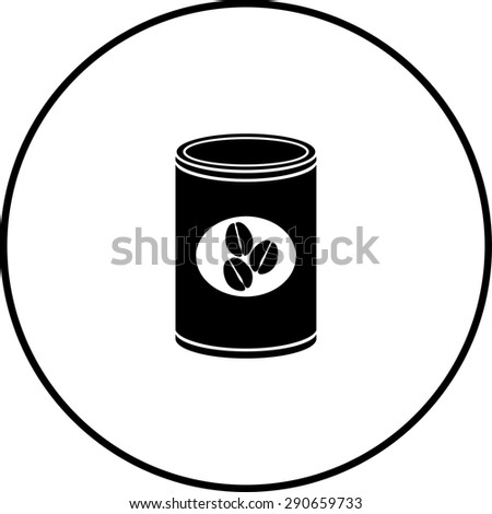 coffee can symbol - stock vector
