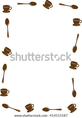 coffee cup and spoon vector background