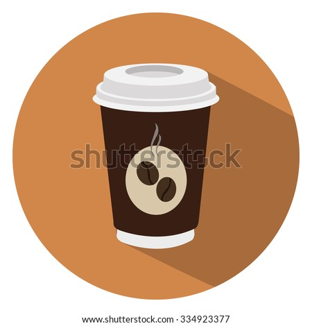 coffee cup flat icon - stock vector
