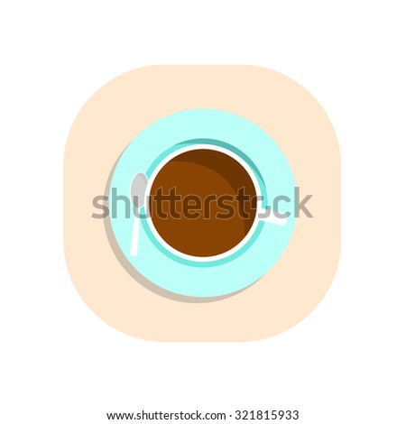 coffee cup flat icon - Vector - stock vector
