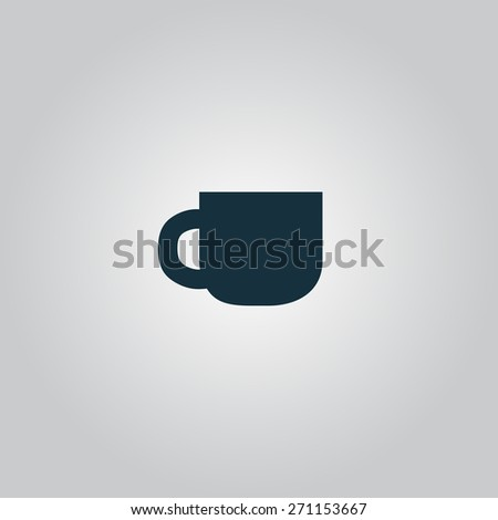 Coffee cup. Flat web icon or sign isolated on grey background. Collection modern trend concept design style vector illustration symbol - stock vector