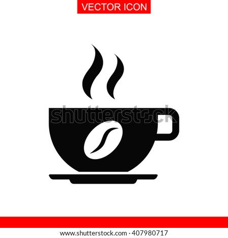 Coffee cup Icon.  - stock vector