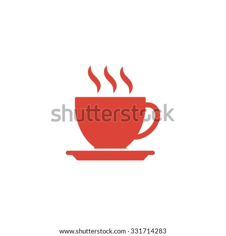coffee cup icon. Flat design style eps 10 - stock vector