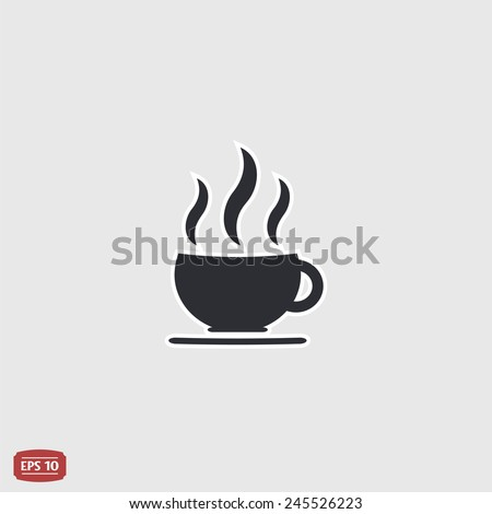 Coffee cup icon. Tea cup. Flat design style. Made vector illustration - stock vector
