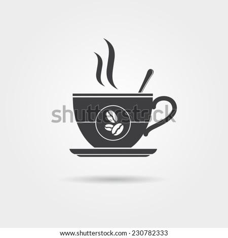 Coffee cup icon, vector - stock vector