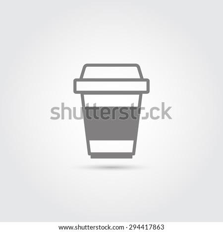 Coffee cup icon - Vector - stock vector