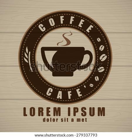 Coffee cup icon vector, Creative design cafe idea - stock vector