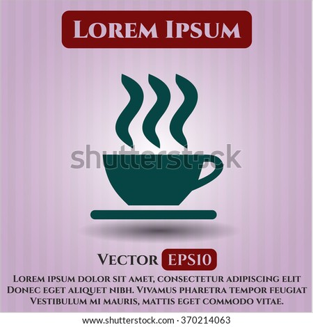 Coffee Cup icon vector illustration - stock vector