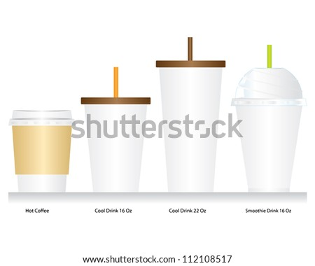Coffee cup set vector - stock vector