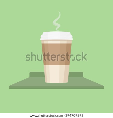 Coffee cup vector. Coffee cup. Coffee cup vector illustration. Coffee cup icon. Coffee cup isolated on background. Paper coffee cup. Coffee cup in flat style. Coffee cup  - stock vector