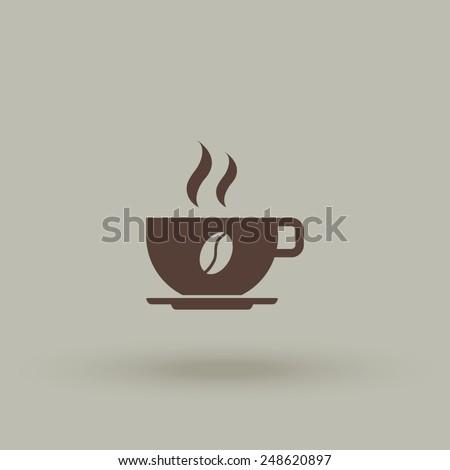 Coffee cup vector icon. - stock vector