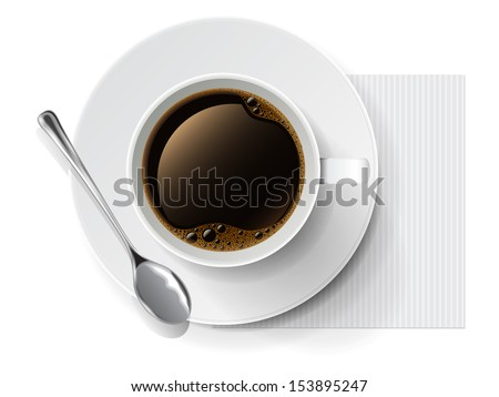 Coffee cup. Vector illustration  - stock vector