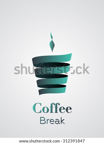 Coffee cup vector logo design - stock vector