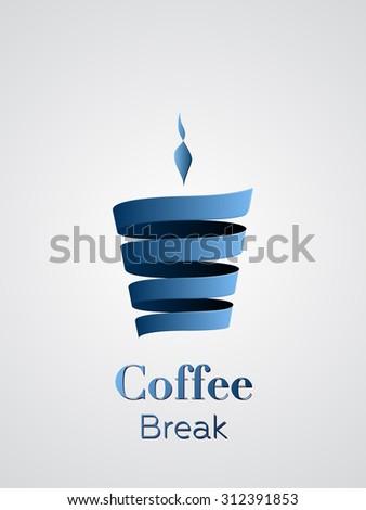 Coffee cup vector logo design - stock vector