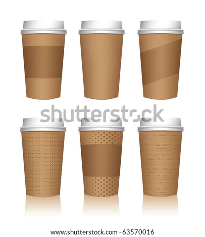 Coffee cup vector templates - stock vector
