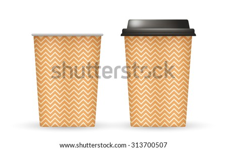Coffee Cup With Patterns Template : Vector Illustration - stock vector