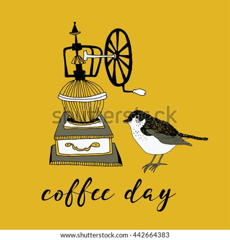 Coffee Day. Print Design - stock vector