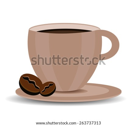 Coffee design over white background, vector illustration. - stock vector