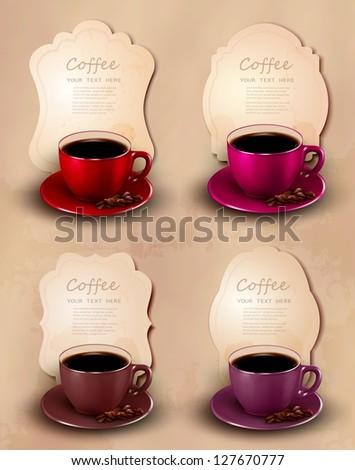 Coffee design template. Vector illustration. - stock vector