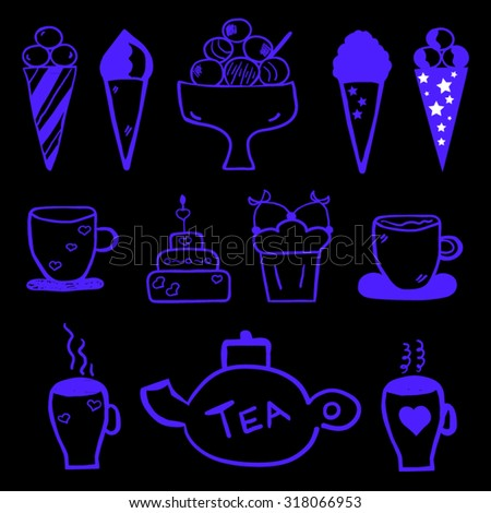 Coffee doodle - stock vector